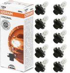 12V 1,2W fekete foglalattal BX8.4d Osram