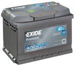 12V 61 Ah EXIDE 600A PREMIUM J+akkumulátor