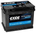 12V 60 Ah EXIDE J+680A AGM akkumulátor